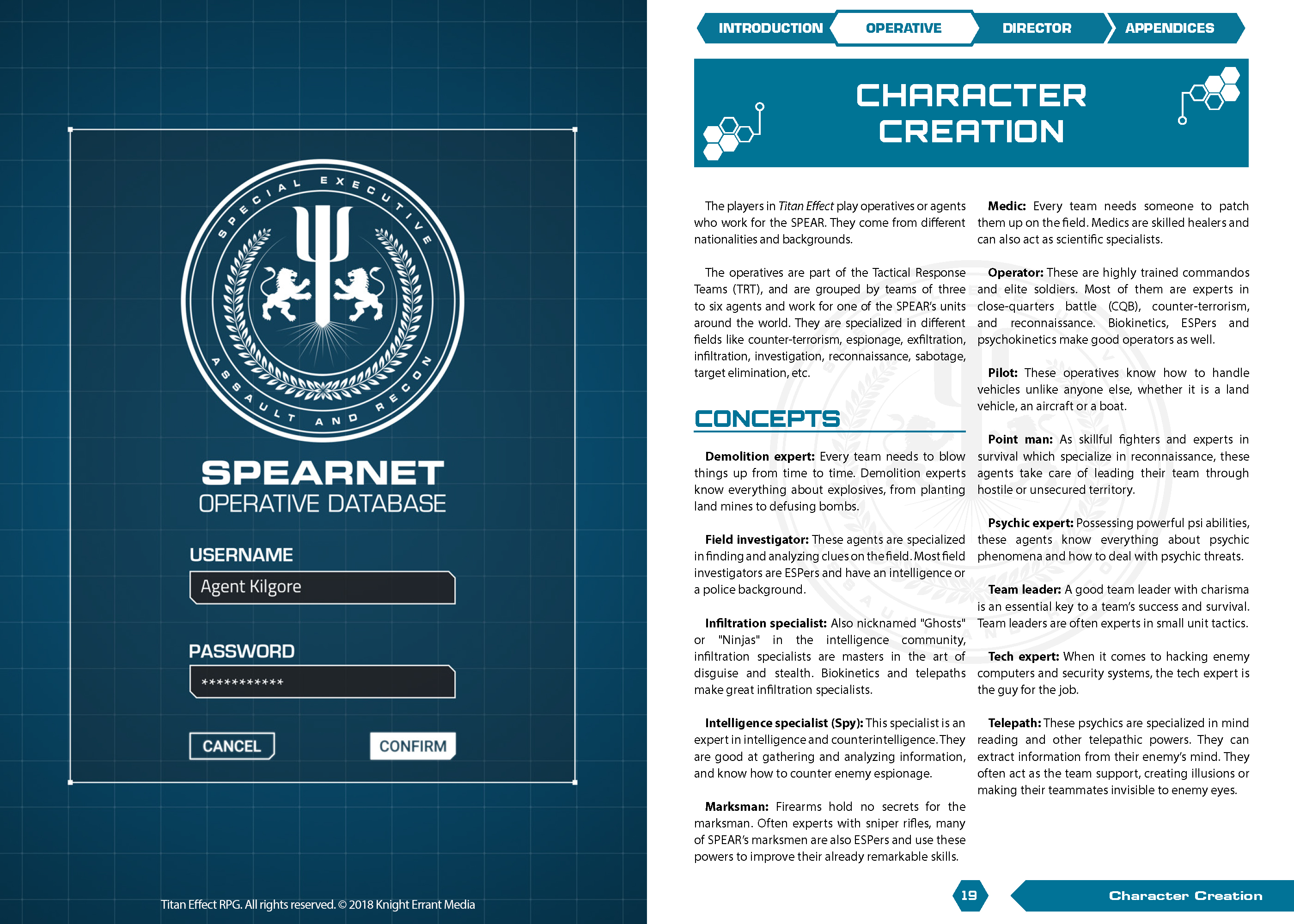 Titan Effect RPG interior pages
